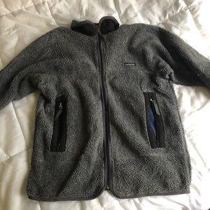 Grey Patagonia Zip Up Fleece